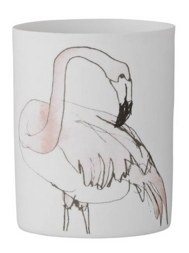 Bloomingville Windlicht Flamingo Motiv groß
