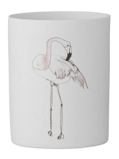 Bloomingville Windlicht Flamingo Motiv klein