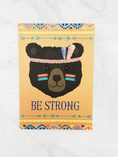 """Notizheft Sass & Belle A5 """"Be Strong"""""""