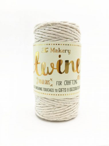 The Makery Bakers Twine – Bäckerzwirn – Cream & Silver