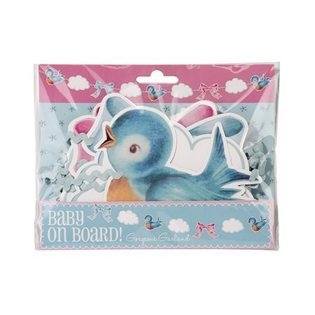 "Babyparty-Girlande ""Baby On Board"""