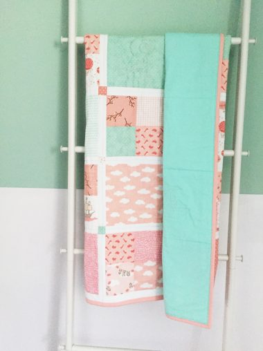 "Quilt Patchwork-Decke ""In The Clouds"""