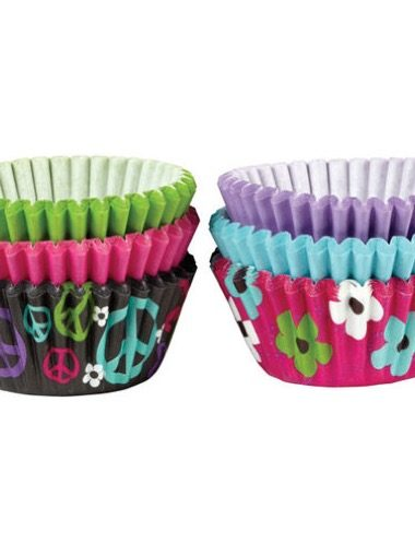 "Wilton Mini-Cupcake-Förmchen 150er ""Peace Flowers"""