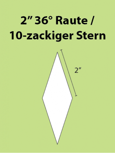 Paper Piecing Schablonen – 10-Point Diamond / 10-zackiger Stern 2 Inch