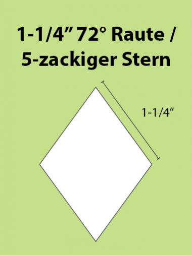 Paper Piecing Schablonen – 5-Point Diamond / 5-zackiger Stern 1-1/4 Inch