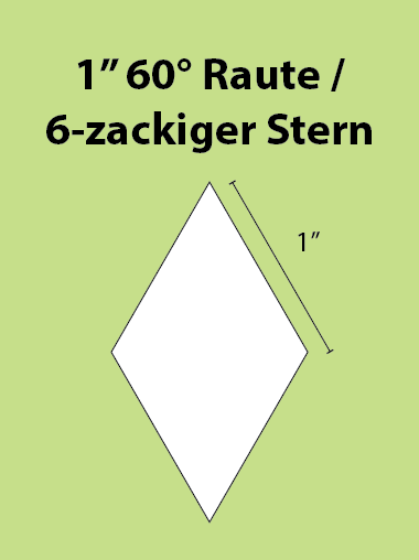 Paper Piecing Schablonen – 6-Point Diamond / 6-zackiger Stern 1 Inch