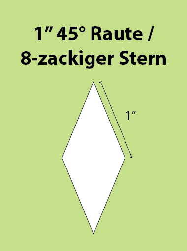 Paper Piecing Schablonen – 8-Point Diamond / 8-zackiger Stern 1 Inch