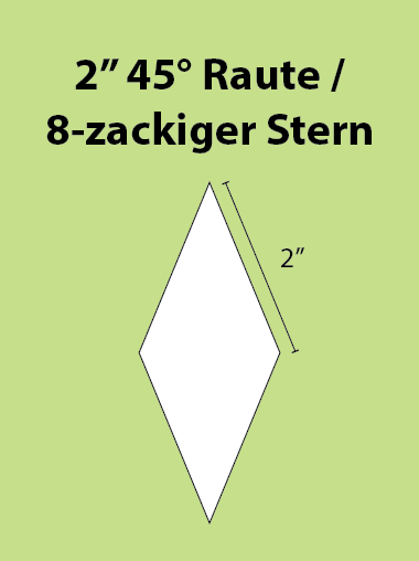 Paper Piecing Schablonen – 8-Point Diamond / 8-zackiger Stern 2 Inch