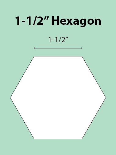 Paper Piecing Schablonen – Hexagon 1-1/2 Inch