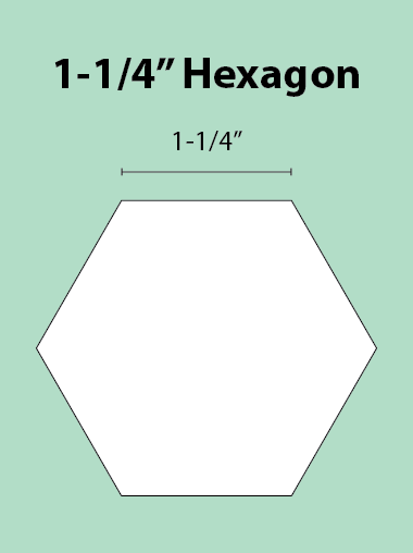 Paper Piecing Schablonen – Hexagon 1-1/4 Inch