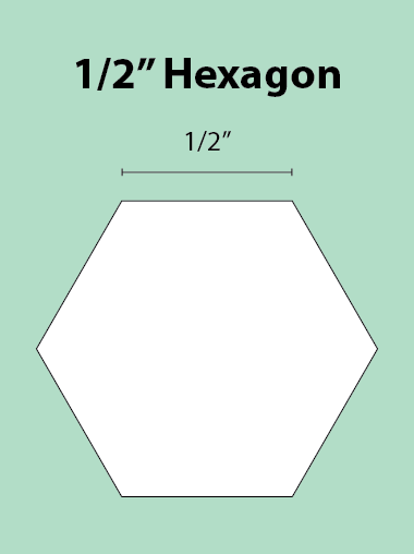 Paper Piecing Schablonen – Hexagon 1/2 Inch