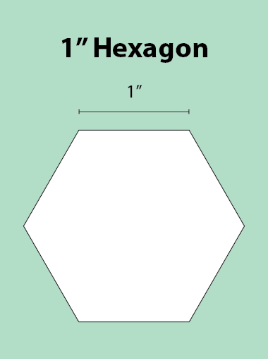 Paper Piecing Schablonen – Hexagon 1 Inch