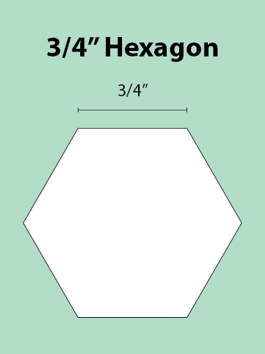 Paper Piecing Schablonen – Hexagon 3/4 Inch