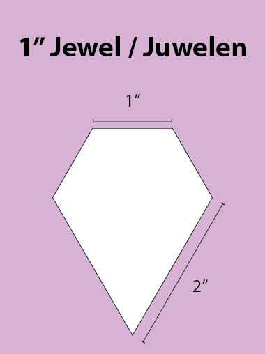 Paper Piecing Schablonen – Jewel 1 Inch