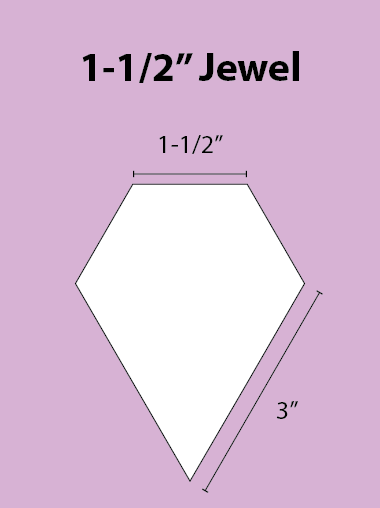 Paper Piecing Schablonen – Jewel 1-1/2 Inch