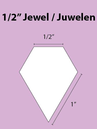 Paper Piecing Schablonen – Jewel 1/2 Inch