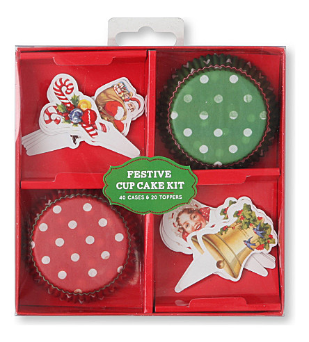 Talking Tables – Jolly Holly Festive Cupcake Kit – Weihnachtliche Cupcake-Dekoration