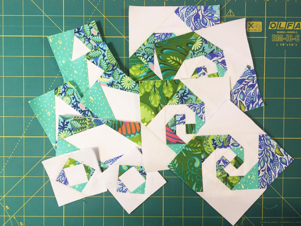 Foundation Paper Piecing - Storm At Sea & Snail Trail