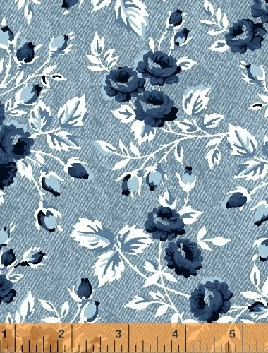 Windham – Gina – Floral Chambray