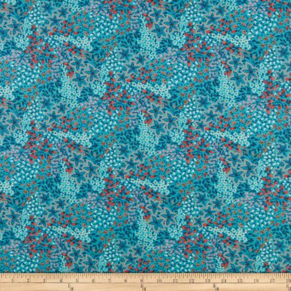 FreeSpirit Fabrics - Medowlark - Meadow Aqua - PWDF293.AQUAX